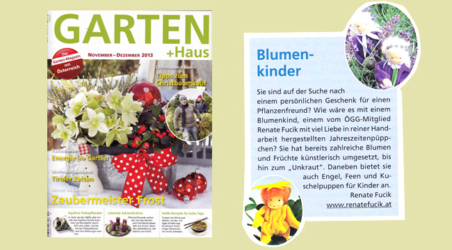 Renate Fucik   Artikel Garten+Haus   Ausgabe November-Dezember 2013